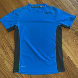NIKE-Boys-Youth-Medium-Dri-Fit-Short-Sleeve-Royal-Blue-Breathable-T-Shirt-EUC
