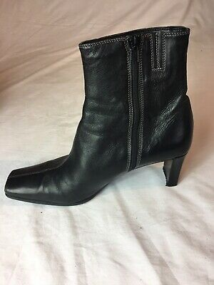 Black Leather Ankle Boots Size