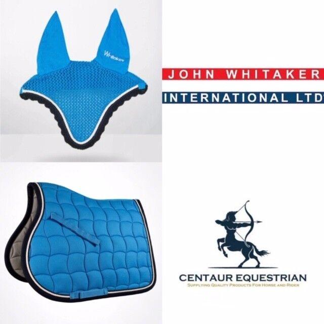 Nuevo-John Whitaker a Cuadros en Matchy Matchy  Set-saddlepad & FLYVEIL-Cielo Azul-Completo  tienda en linea