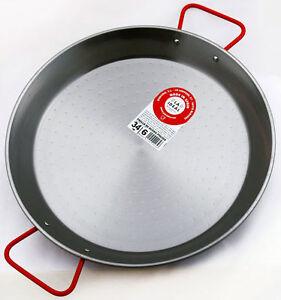 Garcima-34cm-Carbon-Steel-Paella-Pan-Serve-4-6-Made-in-Spain