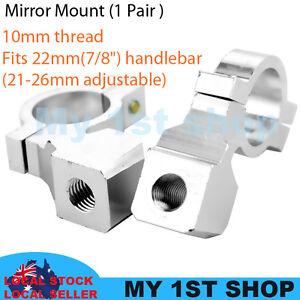 2pcs-10mm-Mirror-mount-holder-clamp-adapter-universal-7-8-034-22mm-handle-bar-alumi