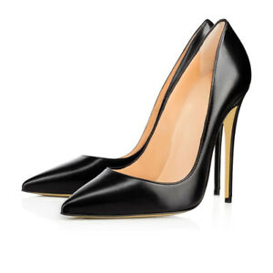 Image Is Loading Women 039 S Shoes Point Toe 12cm High