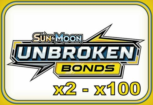 Sun /& Moon UNBROKEN BONDS CODES ~ Pokemon Online Booster Code Cards TCGO Digital