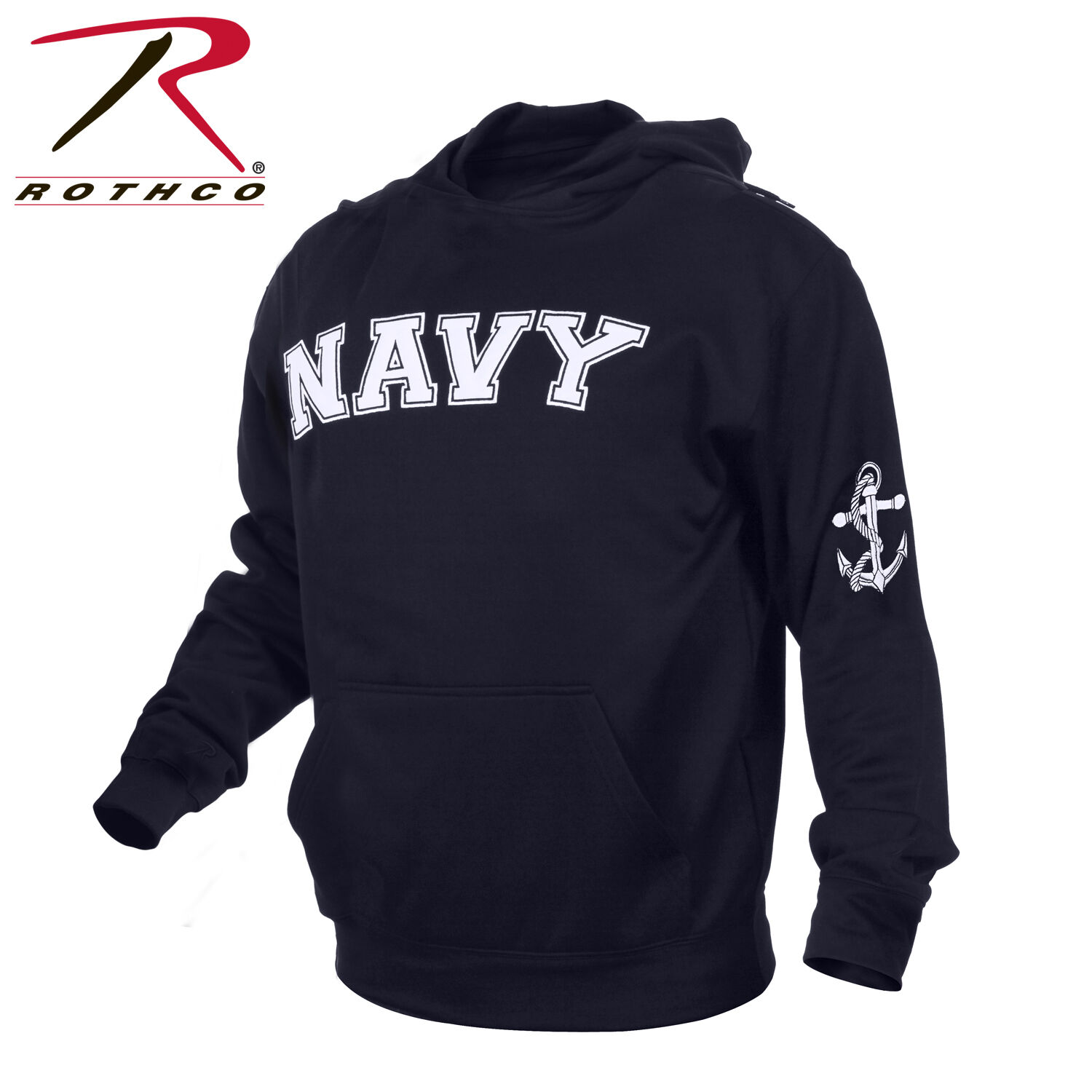 Rothco 2057 Military EmbroideROT Pullover Hoodies - Navy Blau