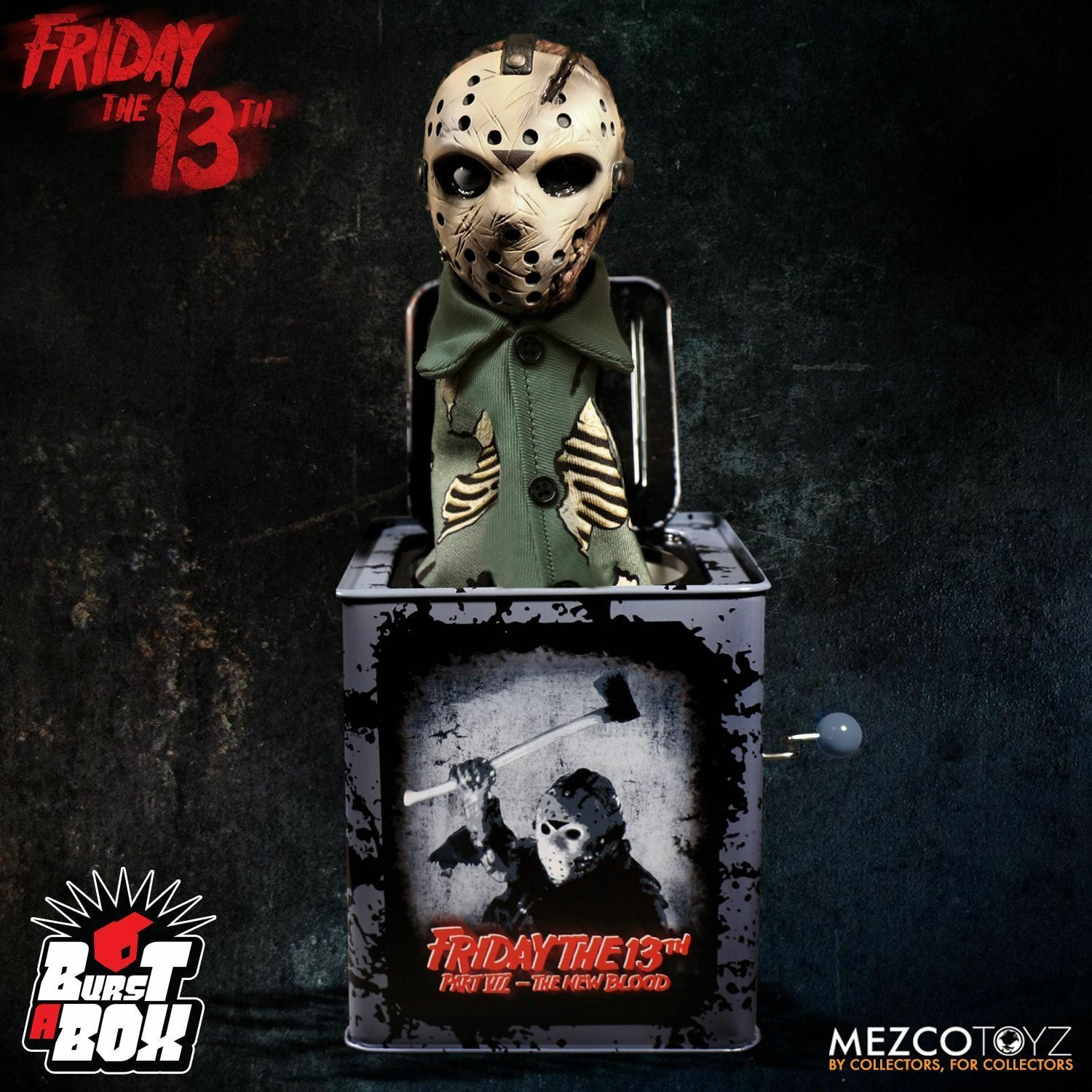 Mezco Burst-A-Box Figures Friday The 13th Jason Voorhees PREORDER FREE US SHIP