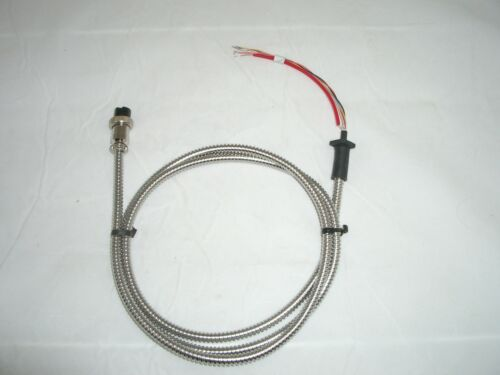 WORKMAN KC-4 4FT CHROME METAL HAND MICROPHONE MIKE CABLE 6 WIRE w// 4 PIN PLUG