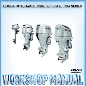 honda outboard engine bf135a bf150a series workshop service repair rh ebay com au Honda B100L Outboard Model Year Honda 8 HP Outboard Specs