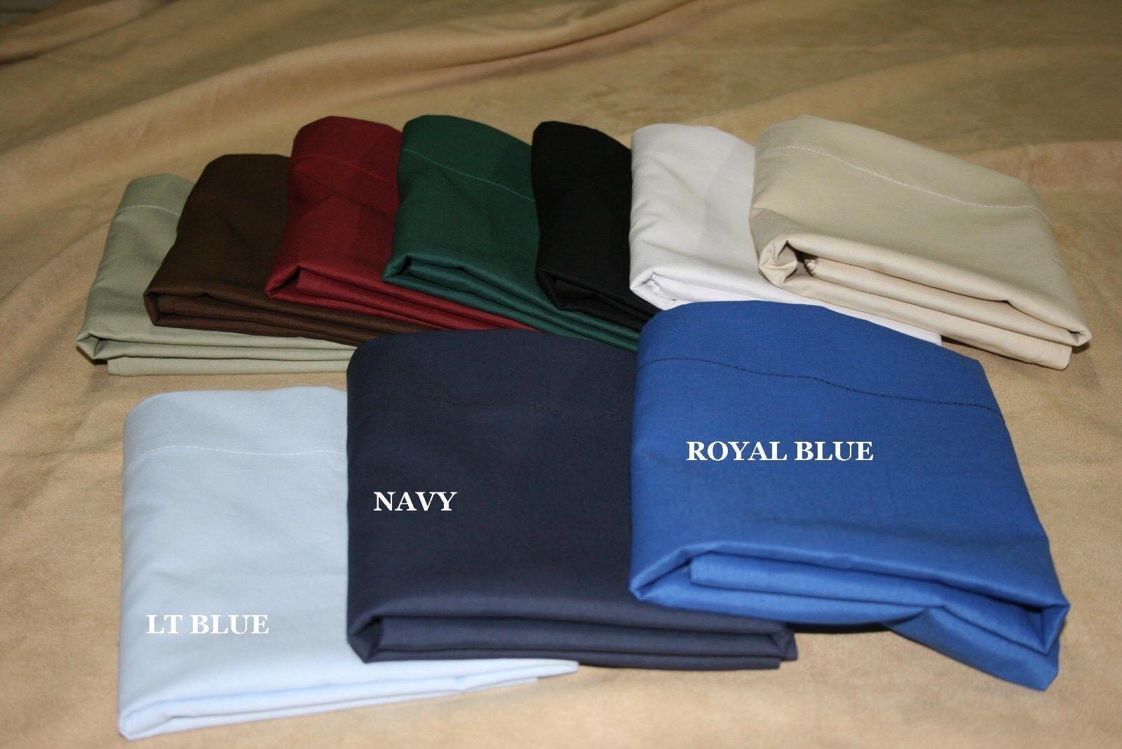 King size Dust Ruffle -Ruffled or Tailored -200TC Lt bluee 14  18  21  drop
