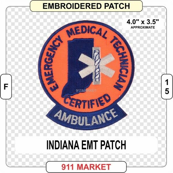 Indiana Emt Patch In State Certified Medic Ems Emergency Medical