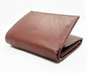 RFID-Blocking-Tan-Handcrafted-Cowhide-Leather-Men-039-s-Trifold-Premium-Wallet