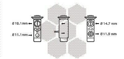 Expansionsventil KlimaanlageMercedes-BenzVentil expansionsventil