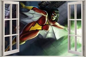 Huge-3D-Window-view-Fantasy-Super-Woman-Wall-Sticker-Mural-Art-Decal-1008