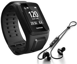 TomTom Spark Cardio + Music Laufuhr L  Multisport Herzfrequenz black + Kopfhörer