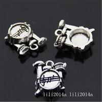 10pc Retro Tibetan Silver Shelf drum Jewelry Accessories wholesale  PL961