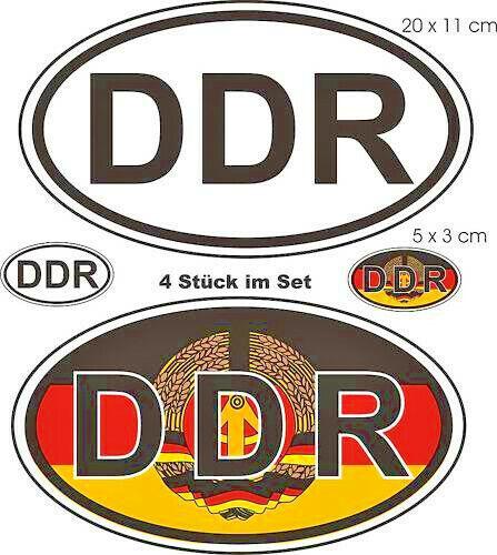 4 Nationalittenkennzeichen Ex DDR Sticker Auto Caravan BusTruck ...