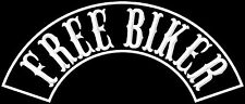 Free Biker Patch Banner  39x8,7cm Biker Kutte MC Chopper  Aufnäher