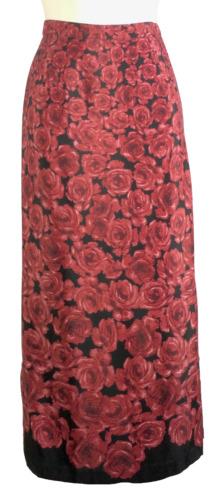 Womens Christopher & Banks Red and Black Skirt Siz