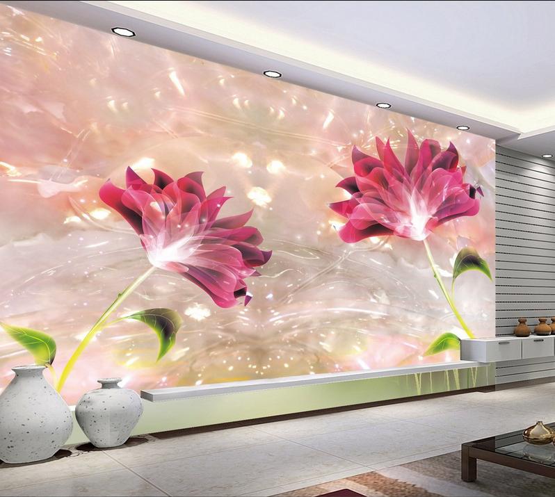 3D Lila Blaumen Jade 853 Tapete Wandgemälde Tapete Tapeten Bild Familie DE Summer  | Verrückter Preis  | Modern  | Perfekte Verarbeitung