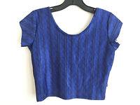 Zara Terez navy Cable Crop Top Navy/royal Blue Girls' Size Xl