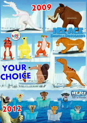 Mcdonald S 2009 Or 2012 Ice Age Dawn Dinosaurs Continental Drift Your Toy Choice Ebay