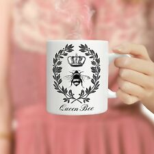 Queen Bee Mug Monogram Coffee Mug Personalized With Your 2 or 3 Letter Initials