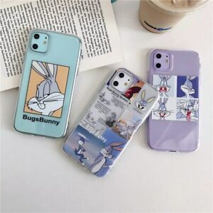 Fashion-Cartoon-Transparent-Case-For-iPhone-11-Pro-XS-Max-7-Bugs-Bunny-Case-Cute