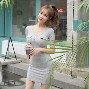 2e83b4d78164 Caricamento dell immagine in corso Elegante-vestito-abito-corto-tubino- grigio-chiaro-slim-