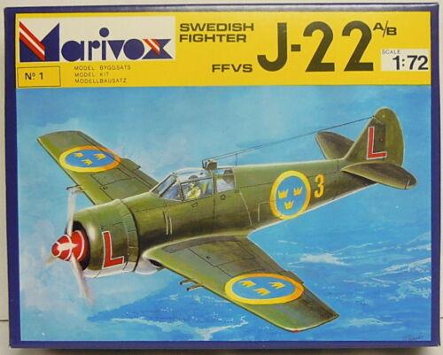 Schwedischer Jäger J-22 A//B 1:72 NEU Ätzteile Plastikbausatz