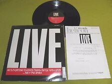 Sting Gabriel Jethro Tull Joe Jackson - Live - RARE Israel Promo Only Israeli LP