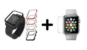 GUSCIO-in-alluminio-Protezione-Display-Alluminio-Case-Pellicola-protettiva-schermo-Apple-Watch