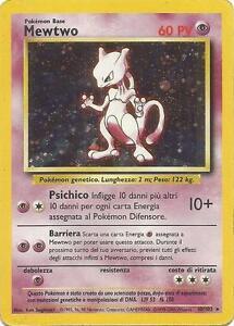 POKEMON-Mewtwo-10-102-Holo-Unlimited-Set-Base-ITALIANO