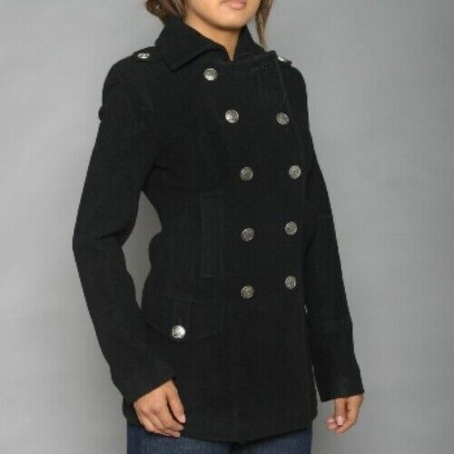 Alpha Industries Ladies Wool Long Peacoat, Womens Alpha Coat, Women Fashion Coat
