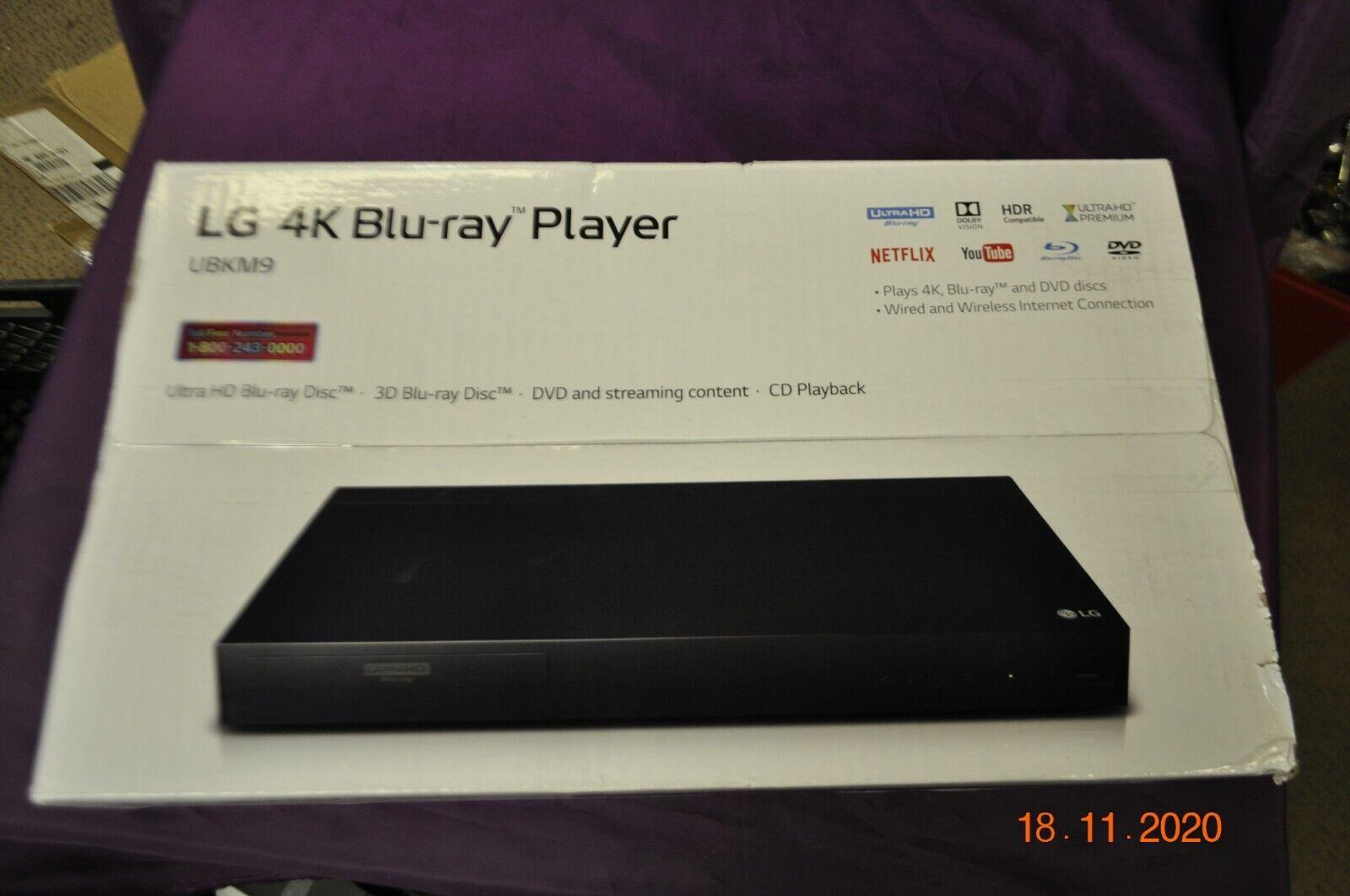 LG Ultra HD 4K 3D Blu-Ray Player UBKM9 & Streaming - (NEW IN BOX) player streaming ubkm9 ultra