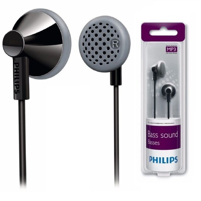 Philips SHE2000 Black In-Ear Headphones Bass Sound SHE2000 Black