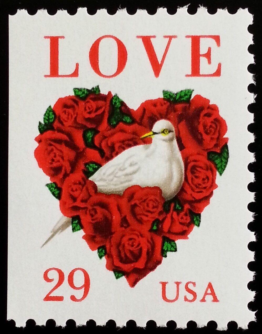 1994 29c Love & Dove, Booklet Single Scott 2814 Mint F/