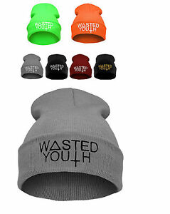 Details about NEW Winter BEANIE HAT Cap Baggy Hip Hop WASTED YOUTH Bad Day  Day Swag Cash SKI 6a37438b66f