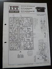ORIGINALI service manual ITT SCHAUB LORENZ CX 75 proffesional/SK