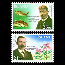 Iceland 1989 - 100th Anniv of the Natural History Society - Sc 682/3 MNH