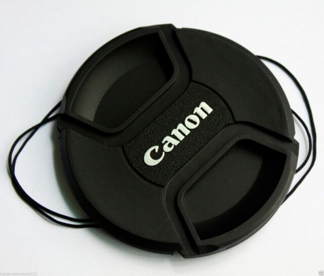 58mm 58 mm Snap-on Front Lens Cap Cover w Cord strap for Canon EOS EF lens E-58