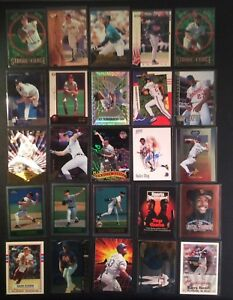 Lot-of-25-Baseball-Cards-Rookies-Inserts-HOF-Stars-Free-Shipping