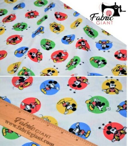 Mickey Mouse impresión de alta calidad de 148 Cm de Ancho Premium Impreso 100/% Cotton Craft