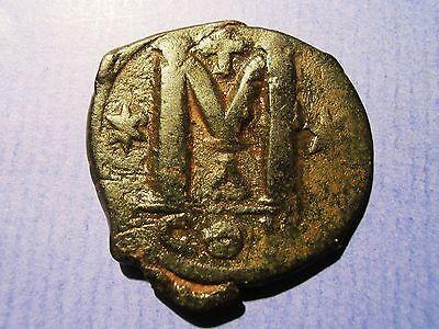 Byzanz Justin I 518-527 Follis 518-22 Konstantinopel