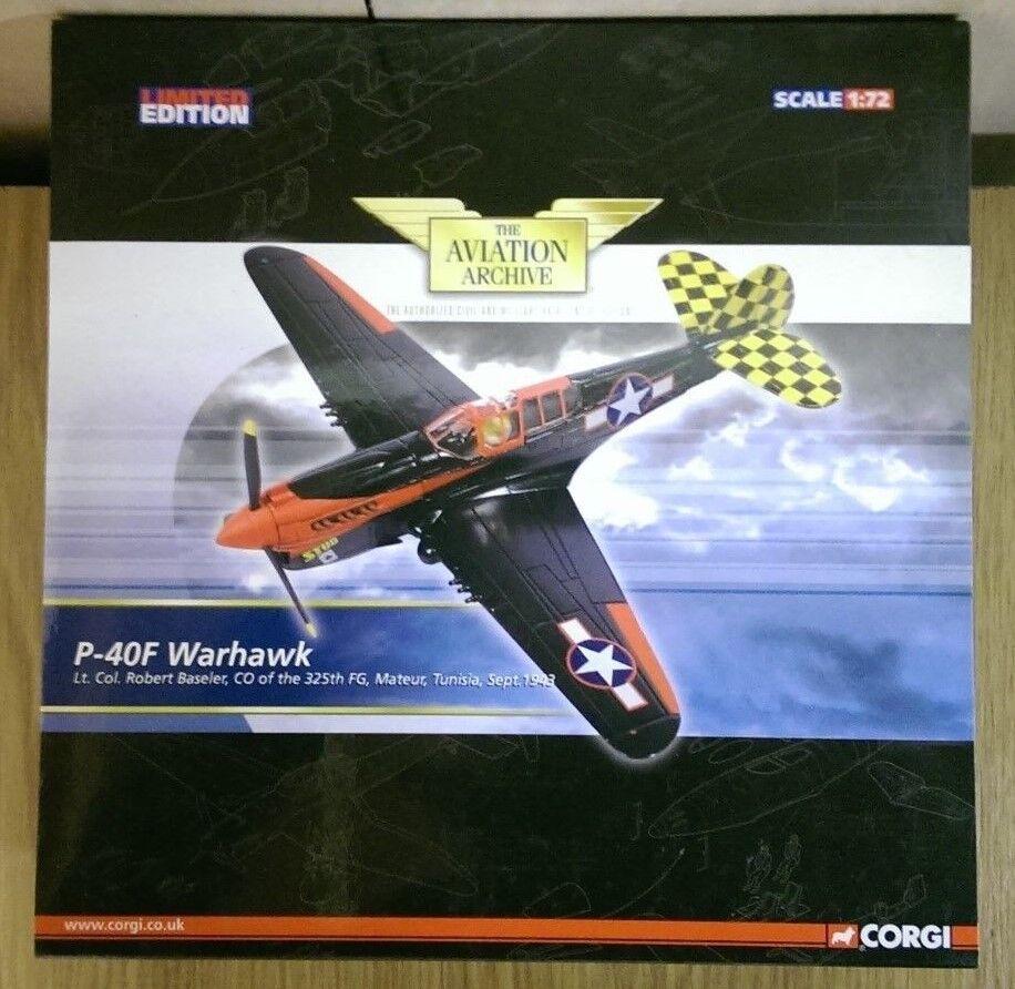 Corgi AA35214 P-40F Warhawk Lt Col Robert Baseler Tunisia Ltd Ed. 0003 of 1740