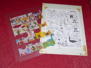 [Comics] Martial/TONY LAFLAMME Volapük Board Colours Celluloid Original 1974 -19