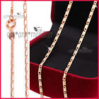 9K ROSE GOLD GF LADY GIRLS SOLID 2mm ANCHOR CHAIN NECKLACE for pendant 45CM GIFT