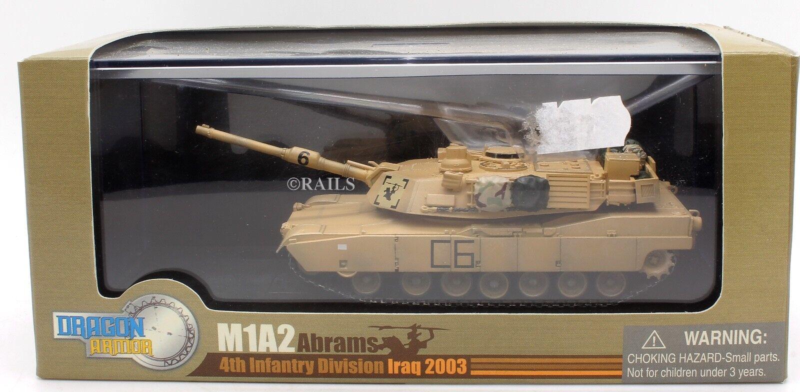 DRAGON ARMOR 1 72 60016 M1A2 ABRAMS 4TH INFANTRY DIVISION IRAQ 2003 (S21)