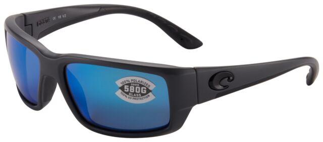 Costa Del Mar Permit Matte Gray Frame Blue Mirror 580G Glass Polarized Lens