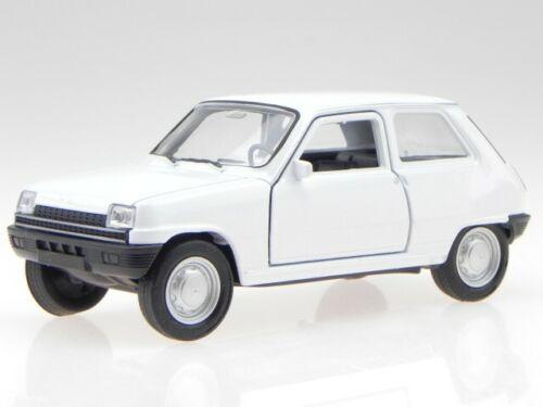 Renault 5 R5 blanco coche en miniatura 43740 Welly 1:34