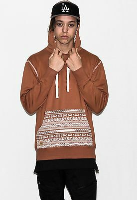 Mens Quality Cotton Hoodie. Mens Cotton Streetwear Hoodie. 250gsm.. Aztec Beige