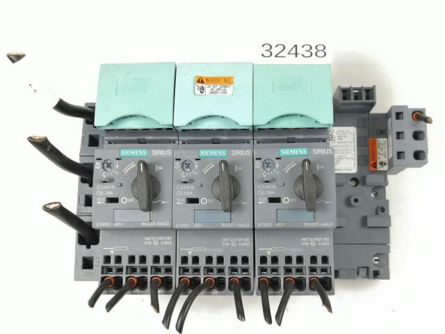 Siemens Sirius 3RV2021-4AA20 3RV2927-5AA00 3RV2917-5D Disjoncteur Motorsc